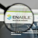 Milan, Italy - August 10, 2017: Enable Midstream Partners logo o. N the website homepage Stock Photos