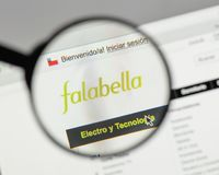 Milan, Italy - August 10, 2017: Falabella logo on the website ho. Mepage Stock Image