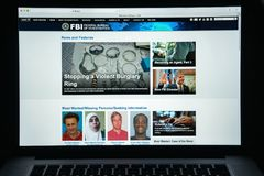 Milan, Italy - August 10, 2017: Fbi website homepage. It is the Stock Image