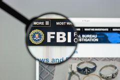 Milan, Italy - August 10, 2017: Fbi website homepage. It is the. Domestic intelligence and security service of the United States, and its principal federal law Royalty Free Stock Photography