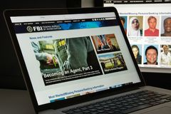 Milan, Italy - August 10, 2017: Fbi website homepage. It is the royalty free stock photos