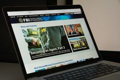 Milan, Italy - August 10, 2017: Fbi website homepage. It is the Stock Images