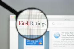 Milan, Italy - August 10, 2017: Fitch ratings website homepage. It is one of the Big Three credit rating agencies. Fitch ratings logo visible royalty free stock image