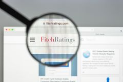 Milan, Italy - August 10, 2017: Fitch ratings website homepage. It is one of the Big Three credit rating agencies. Fitch ratings logo visible stock images