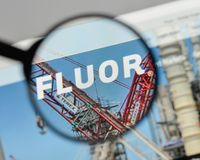 Milan, Italy - August 10, 2017: Fluor logo on the website homepa. Ge Stock Photography