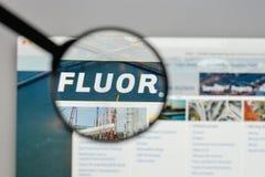Milan, Italy - August 10, 2017: Fluor logo on the website homepa. Ge Stock Image