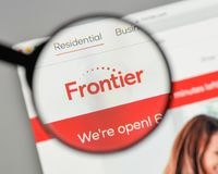 Milan, Italy - August 10, 2017: Frontier Communications logo on. The website homepage Stock Photo