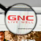 Milan, Italy - August 10, 2017: GNC Holdings logo on the website. Homepage Royalty Free Stock Images