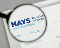 Milan, Italy - August 10, 2017: HAYS logo on the website homepag. E Stock Image