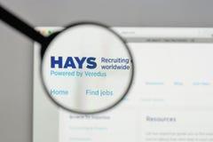 Milan, Italy - August 10, 2017: HAYS logo on the website homepag. E Stock Photos