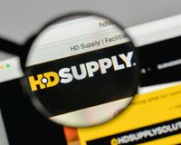 Milan, Italy - August 10, 2017: HD Supply Holdings logo on the w. Ebsite homepage Stock Photos