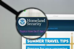 Milan, Italy - August 10, 2017: Homeland Security website homepa. Ge. It is a cabinet department of the United States federal government with responsibilities in Stock Photo