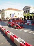 Milan, Italy - August 29, 2018: Kimi Raikkonen driving the Ferrari stock photography