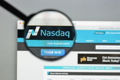 Milan, Italy - August 10, 2017: Nasdaq website homepage. It is a Stock Images