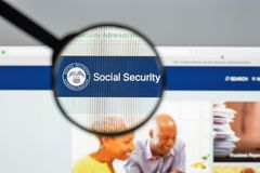 Milan, Italy - August 10, 2017: SSA website homepage. It is s an. Independent agency of the U.S. federal government that administers Social Security. ssa logo Royalty Free Stock Image
