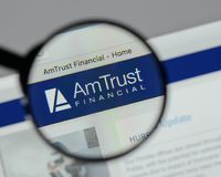 Milan, Italy - August 10, 2017: Am Trust Financial Services webs. Ite homepage. It is a New York City-based multinational property and casualty insurance company stock photos