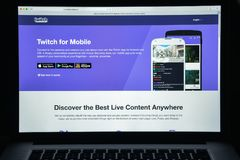 Milan, Italy - August 10, 2017: Twitch website homepage. It is a. Live streaming video platform owned by Twitch Interactive, a subsidiary of Amazon.com. Twitch Stock Photo