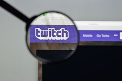 Milan, Italy - August 10, 2017: Twitch website homepage. It is a Stock Photos