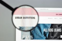 Milan, Italy - August 10, 2017: Urban outfitters website homepage. It is an American multinational clothing corporation. Urban. Outfitters logo visible royalty free stock photo