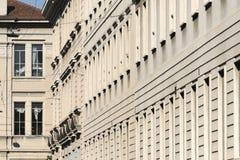 Milan Italy: buildings in via Piero della Francesca Royalty Free Stock Photo