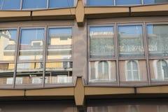 Milan Italy: buildings in via Piero della Francesca Royalty Free Stock Images