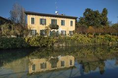 Milan Italy, canal of Martesana Stock Photos