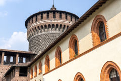 Milan (Italy) - Castello Sforzesco Royalty Free Stock Photo