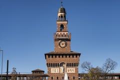 Milan (Italy), Castello Sforzesco Royalty Free Stock Photos