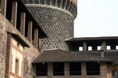 Milan (Italy): Castello Sforzesco Stock Image
