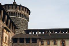 Milan (Italy): Castello Sforzesco Stock Photo