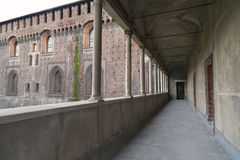 Milan (Italy): Castello Sforzesco Stock Photo