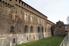 Milan (Italy): Castello Sforzesco Royalty Free Stock Images