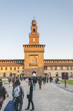 Milan, Italy. Castello Sforzesco Stock Photos