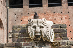 Milan (Italy) - Castello Sforzesco Royalty Free Stock Photo