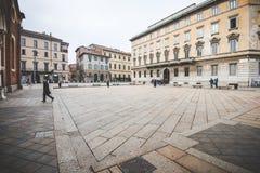 MILAN,ITALY - DECEMBER 10,2015: Church Holy Mary of Grace ( Santa Maria delle Grazie ) , Milan. Stock Photo