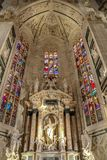Interior at the Milan cathedral Stock Photography