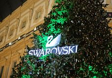 Swarovski christmas tree in Milan
