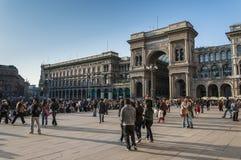 Milan, Italy - Doumo Square and Galeria Vittorio Emanuele II Stock Photos