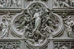 MILAN, ITALY/EUROPE - FEBRUARY 23 : Detail of the main door at t stock photography