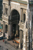MILAN, ITALY/EUROPE - FEBRUARY 23 : View from Duomo towards the royalty free stock photos