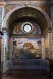 Milan, Italy, Europe, San Maurizio al Monastero Maggiore, church, the Sistine Chapel of Milan, art, fresco, monastery, convent. Milan, Italy, Europe: the royalty free stock photos
