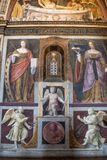 Milan, Italy, Europe, San Maurizio al Monastero Maggiore, church, the Sistine Chapel of Milan, art, fresco, monastery, convent. Milan, Italy, Europe: San royalty free stock images
