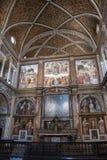 Milan, Italy, Europe, San Maurizio al Monastero Maggiore, church, the Sistine Chapel of Milan, art, fresco, monastery, convent. Milan, Italy, Europe: San stock images