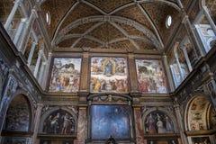 Milan, Italy, Europe, San Maurizio al Monastero Maggiore, church, the Sistine Chapel of Milan, art, fresco, monastery, convent. Milan, Italy, Europe: San stock photos