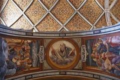 Milan, Italy, Europe, San Maurizio al Monastero Maggiore, church, the Sistine Chapel of Milan, art, fresco, monastery, convent. Milan, Italy, Europe: the royalty free stock photography