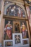 Milan, Italy, Europe, San Maurizio al Monastero Maggiore, church, the Sistine Chapel of Milan, art, fresco, monastery, convent. Milan, Italy, Europe: San royalty free stock photography
