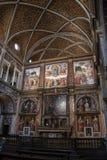 Milan, Italy, Europe, San Maurizio al Monastero Maggiore, church, the Sistine Chapel of Milan, art, fresco, monastery, convent. Milan, Italy, Europe: San royalty free stock image
