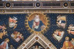 Milan, Italy, Europe, San Maurizio al Monastero Maggiore, church, the Sistine Chapel of Milan, art, fresco, monastery, convent. Milan, Italy, Europe: San royalty free stock photo