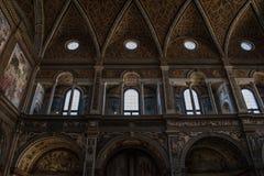 Milan, Italy, Europe, San Maurizio al Monastero Maggiore, church, the Sistine Chapel of Milan, art, fresco, monastery, convent. Milan, Italy, Europe: the royalty free stock images