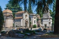 Milan, Italy. Famous landmark - the Monumental Cemetery Cimitero Monumentale Stock Images